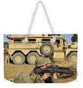 Seabees Defend Their Camp Weekender Tote Bag