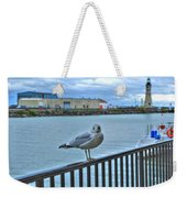 Seagull At Lighthouse Weekender Tote Bag