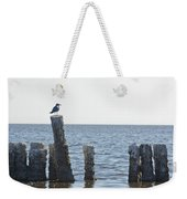 Seagull On A Post Weekender Tote Bag