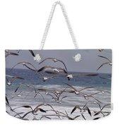 Seagulls Fly Over Surf Weekender Tote Bag