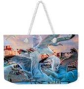 Seagulls On Brighton Pier Weekender Tote Bag