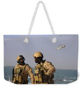 Seals Aboard A Rigid-hull Inflatable Weekender Tote Bag by Stocktrek Images