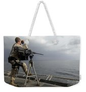 Seaman Scans The Ocean Weekender Tote Bag