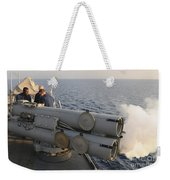 Seamen Fire An Air Slug From A Mk-32 Weekender Tote Bag