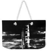 Searchlights Illuminate This Nighttime Weekender Tote Bag