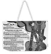 Sears Ad - Guitars 1902 Weekender Tote Bag