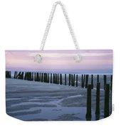 Seascape At Dusk With Pillars In Weekender Tote Bag