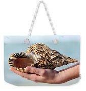 Seashell In Hand Weekender Tote Bag