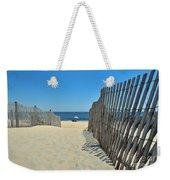 seashore 100 Cape Henlopen Beach walkway Weekender Tote Bag