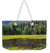 Seasonal Duck Pond Weekender Tote Bag