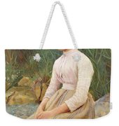 Seated Lady Weekender Tote Bag