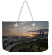 Seattle Arrival Sunset Weekender Tote Bag