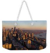 Seattle Blue Hour Weekender Tote Bag