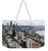 Seattle From The Needle Weekender Tote Bag