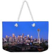 Seattle Skyline 3 Weekender Tote Bag