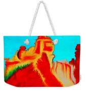 Sedona Hills - Fire At Sunset - Arizona Weekender Tote Bag