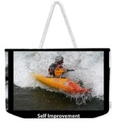 Self Improvement With Caption Weekender Tote Bag
