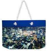 Sendai Train Station By Night Weekender Tote Bag