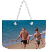 Senior Elderly  Lover Couple Weekender Tote Bag