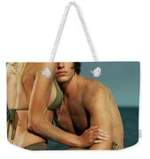 Sensual Portrait Of A Young Couple On The Beach Weekender Tote Bag