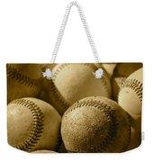 Sepia Baseballs Weekender Tote Bag