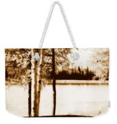 Sepia Picnic Table Lll Weekender Tote Bag