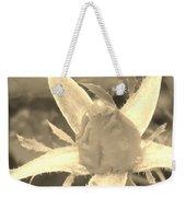 Sepia Rose Bud Weekender Tote Bag