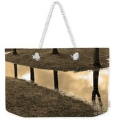 Sepia Silhouetted Reflections  Weekender Tote Bag