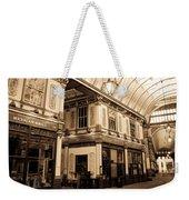 Sepia Toned Image Of Leadenhall Market London Weekender Tote Bag