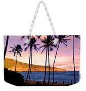 Serene Waimea Bay Weekender Tote Bag