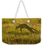 Serval Cat Pouncing Serengeti Weekender Tote Bag