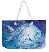 Seven Ichthus And A Heart Weekender Tote Bag by J Vincent Scarpace