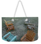 Several Lawn Chairs Scattered Weekender Tote Bag