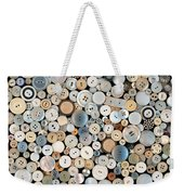 Sewing - Buttons - Lots Of White Buttons Weekender Tote Bag