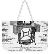 Sewing Machine Ad, 1895 Weekender Tote Bag