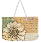 Shabby Chic Floral 1 Weekender Tote Bag