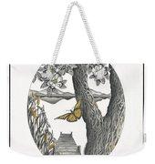 Shades Of Magnolia Weekender Tote Bag