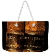Shakespeare Leather Bound Books Weekender Tote Bag