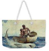 Shark Fishing Weekender Tote Bag