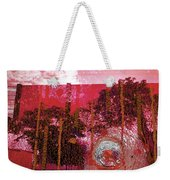 Abstract Shattered Glass Red Weekender Tote Bag