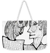 She And He Pen And Ink 2000 Weekender Tote Bag