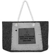 Shea Stadium Second Base Weekender Tote Bag by Rob Hans