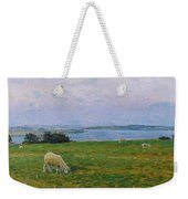 Sheep Grazing Weekender Tote Bag