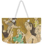 Sheet Music Gold Weekender Tote Bag