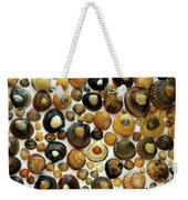Shell Background Weekender Tote Bag by Carlos Caetano