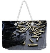 Shell Casings From A .50 Caliber Weekender Tote Bag