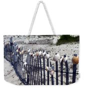 Shell-decorated Fence Weekender Tote Bag