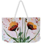 Shining Red Poppies Watercolor Painting Weekender Tote Bag