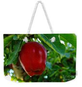 Shiny Red And Ripe  Weekender Tote Bag