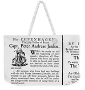 Ship Announcement, 1770 Weekender Tote Bag